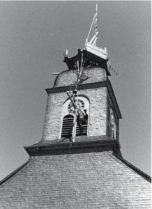 Arbeiten an der Kirche 1962